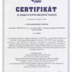 Certikát o zdravotní bezpečnosti